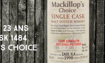 Caol Ila - 1990/2013 - 23yo - 55,9% - Cask 1484 - MacKillop's Choice