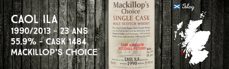 Caol Ila – 1990/2013 – 23yo – 55,9% – Cask 1484 – MacKillop's Choice