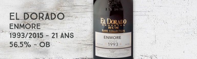 El Dorado – Enmore – 1993/2015 – 21yo – 56,5% – OB – Rare Collection – Guyana