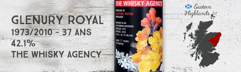 Glenury Royal – 1973/2010 – 37yo – 42,1% – The Whisky Agency – Still Lifes I