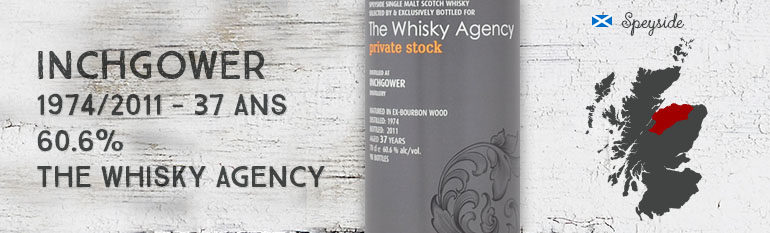 Inchgower – 1974/2011 – 37yo – 60,6% – The Whisky Agency – Private stock