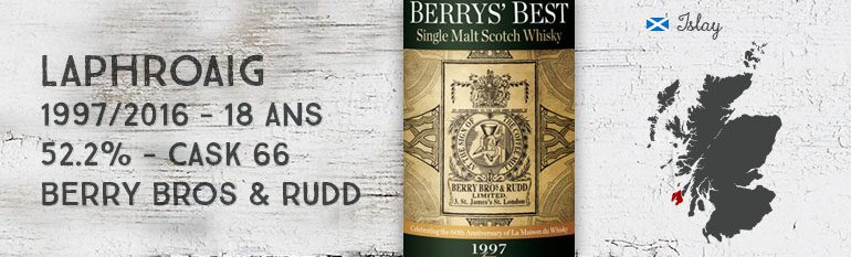 Laphroaig – 1997/2016 – 18yo – 52,2% – Cask 66 – Berry Bros & Rudd for LMDW