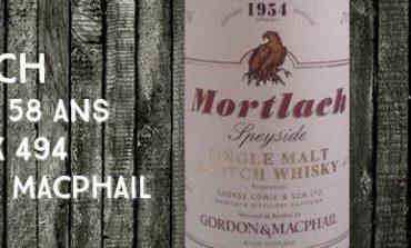 Mortlach - 1954/2012 - 58yo - 43% - Cask 494 - Gordon & MacPhail - Rare Old