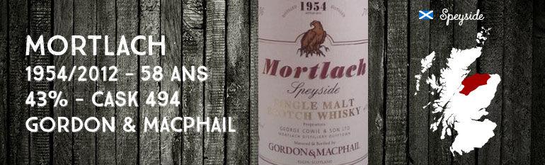 Mortlach – 1954/2012 – 58yo – 43% – Cask 494 – Gordon & MacPhail – Rare Old