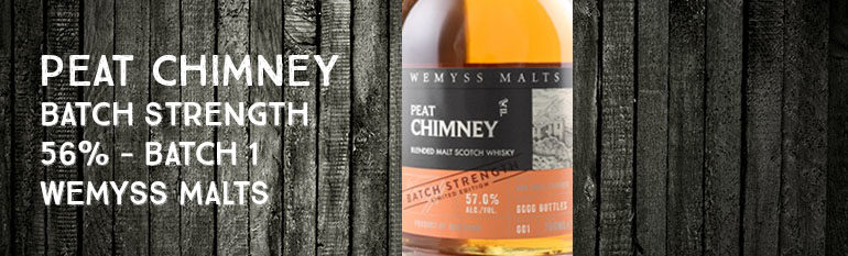 Peat Chimney – Batch Strength – 57% – Batch 1 – Wemyss Malts – 2016