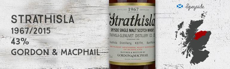 Strathisla – 1967/2015 – 43% – Gordon & MacPhail – Licensed Bottling