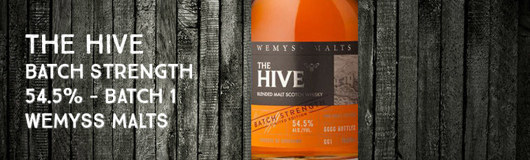 The Hive – Batch Strength – 54,5% – Batch 1 – Wemyss Malts – 2016