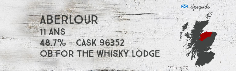 Aberlour – 11yo – 48,7% – Cask 96352 – OB for The Whisky Lodge