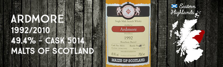 Ardmore – 1992/2010 – 49,4% – Cask 5014 – Malts of Scotland
