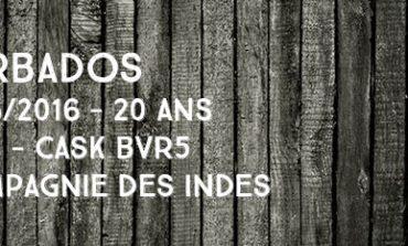 Barbados - 1996/2016 - 20yo - 45% - Cask BVR5 - Compagnie Des Indes - Barbade