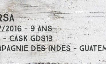 Darsa - 2007/2016 - 9yo - 43% - Cask GDS13 - Compagnie Des Indes - Guatemala