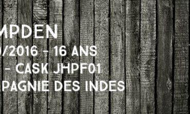 Hampden - 2000/2016 - 16yo - 44% - Cask JHPF01 - Compagnie Des Indes - Jamaïque