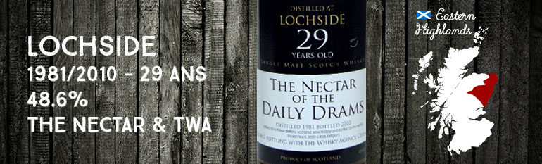 Lochside – 1981/2010 – 29yo – 48,6% – The Nectar & The Whisky Agency – The Nectar Of The Daily Drams