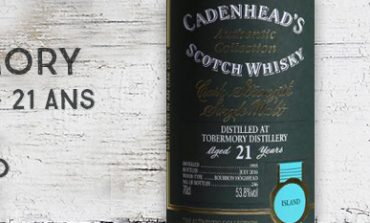 Tobermory - 1995/2016 - 21yo - 53,8% - Cadenhead - Authentic Collection