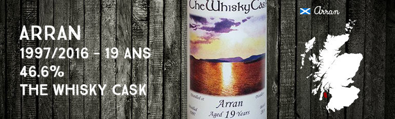 Arran – 1997/2016 – 19yo – 46,6% – The Whisky Cask