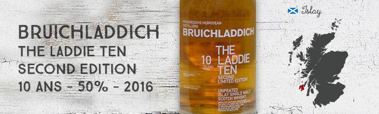 Bruichladdich – The Laddie Ten – Second Edition – 10yo – 50% – OB – 2016