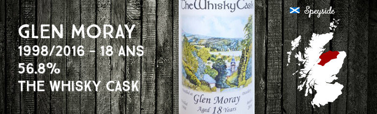 Glen Moray – 1998/2016 – 18yo – 56.8% – The Whisky Cask