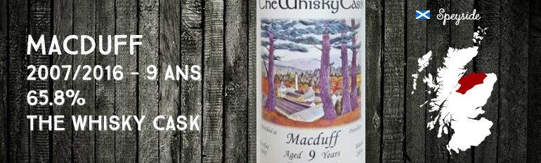 Macduff – 2007/2016 – 9yo – 65.8% – The Whisky Cask