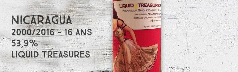 Nicaragua – 2000/2016 – 16yo – 53,9% – Liquid Treasures – Rum Session n°2 – Nicaragua