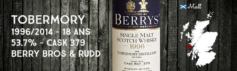 Tobermory – 1996/2014 – 18yo – 53.7% – Cask 379 – Berry Bros & Rudd