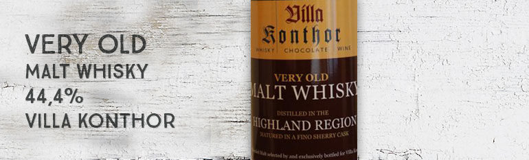 Very Old Malt Whisky – 44.4% – Villa Konthor – Fino Cask