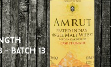 Amrut - Peated - Cask Strength - 62,8% - OB - Batch 13 - 2014