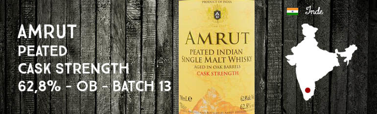 Amrut – Peated – Cask Strength – 62,8% – OB – Batch 13 – 2014