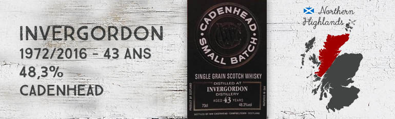 Invergordon – 1972/2016 – 43yo – 48,3% – Cadenhead – Small Batch