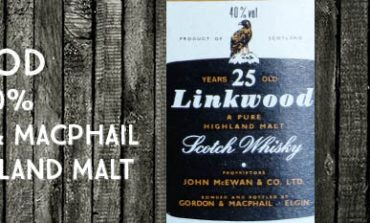 Linkwood - 25yo - 40% - Gordon & MacPhail - Licensed Bottling - A pure Highland