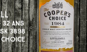 Littlemill - 1984/2016 - 32yo - 46,9% - Cask 3898 - Cooper's Choice - For La Boutique du Chemin