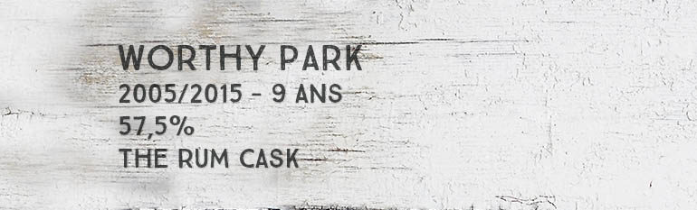 Worthy Park – 2005/2015 – 9yo – 57,5% – The Rum Cask – Jamaïque