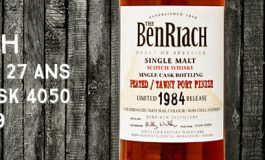 Benriach - 1984/2012 - 27yo - 52,2% - Cask 4050 - Single Cask Peated - Tawny Port Finish - OB - Batch 9
