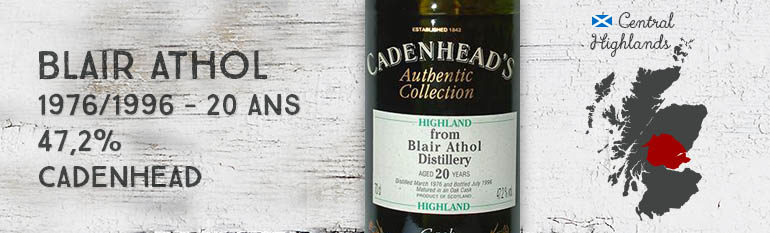 Blair Athol – 1976/1996 – 20yo – 47,2% – Cadenhead – Authentic Collection