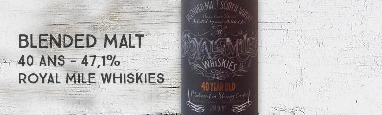Blended Malt – 40yo – 47,1% – Royal Mile Whiskies