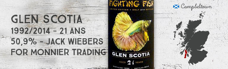 Glen Scotia – 1992/2014 – 21yo – 50,9% – Jack Wiebers – for Monnier Trading – Fighting Fish