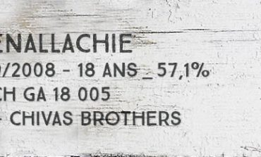 Glenallachie - 1989/2008 - 18yo - 57,1% - Batch GA 18 005 - OB - Chivas Brothers CS Edition