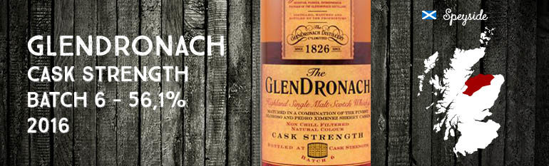 Glendronach – Cask Strength – 56,1% – OB – Batch 6