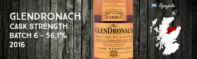 Glendronach – Cask Strength – 56,1% – OB – Batch 6