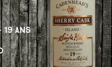 Arran - 1996/2016 - 19yo - 54% - Cadenhead - Wood Range - Sherry Cask