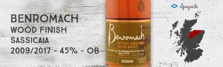 Benromach – Wood Finish – Sassicaia – 2009/2017 – 45% – OB