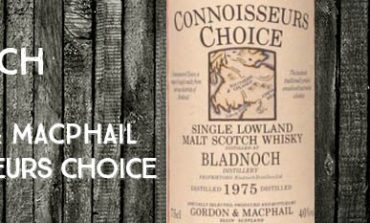 Bladnoch - 1975 - 40% - Gordon & MacPhail - Connoisseurs Choice - Old Map Label