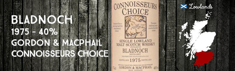 Bladnoch – 1975 – 40% – Gordon & MacPhail – Connoisseurs Choice – Old Map Label