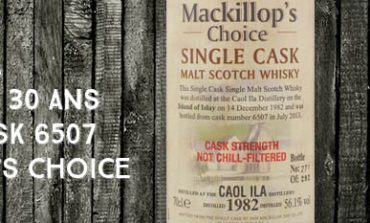 Caol Ila - 1982/2013 - 30yo - 56,1% - Cask 6507 - Mackillop's Choice - Single cask - Cask Strength