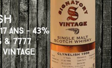 Clynelish - 1998/2015 - 17yo - 43% - Cask 7776-7777 - Signatory Vintage - Vintage Collection