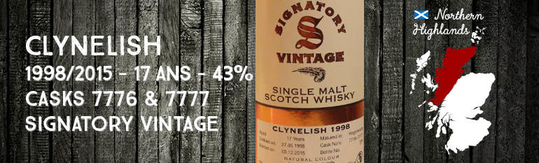 Clynelish – 1998/2015 – 17yo – 43% – Cask 7776-7777 – Signatory Vintage – Vintage Collection
