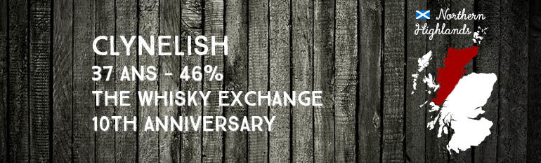 Clynelish – 37yo – 46% – The Whisky Exchange – 10th Anniversary – 2009