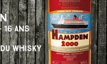 Hampden - 2000/2016 - 16yo - 52,4% - La maison du Whisky - Transcontinental Rum Line - Jamaïque