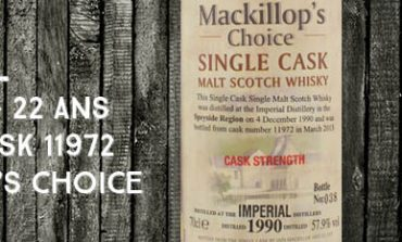 Imperial - 1990/2013 - 22yo - 57,9% - Cask 11972 - Mackillop's Choice - Single cask - Cask Strength