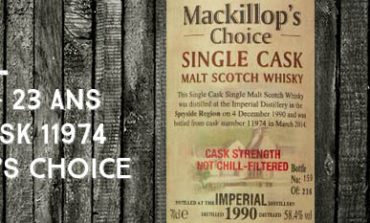 Imperial - 1990/2014 - 23yo - 58,4% - Cask 11974 - Mackillop's Choice - Single cask - Cask Strength