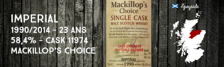 Imperial – 1990/2014 – 23yo – 58,4% – Cask 11974 – Mackillop's Choice – Single cask – Cask Strength